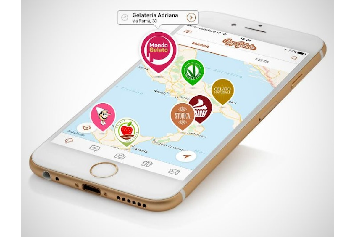 AppGelato una app dedicata a chi desideri assaggiare dell'ottimo gelato artigianale