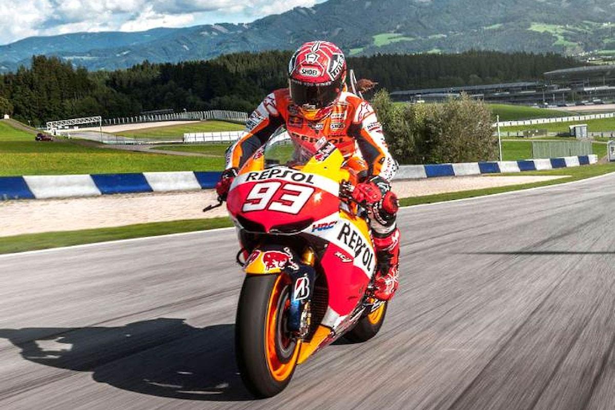 Terza pole di fila per Marquez. Sarà lui a partire primo nel gran premio d'Austria 2017 di MotoGP