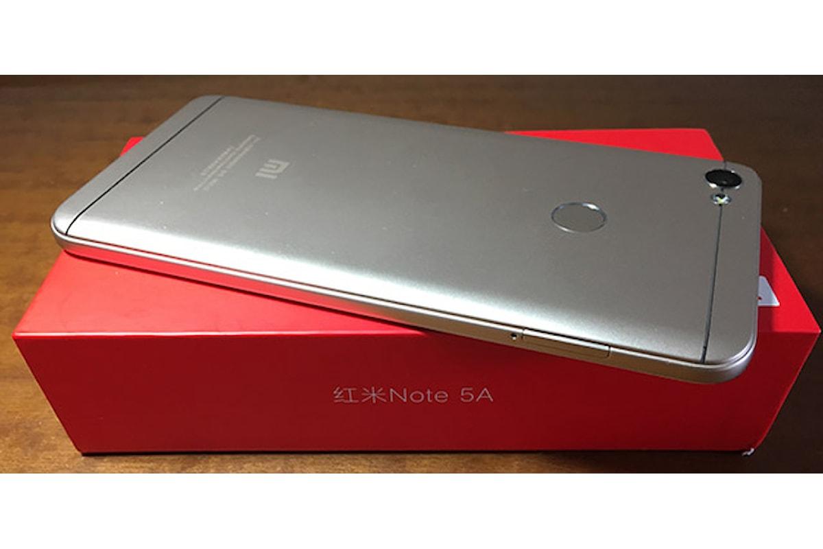 Xiaomi Redmi Note 5A, recensione e prova d'uso di Guideitech